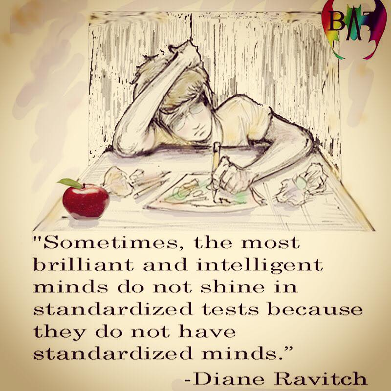 Brilliant minds are not standardized minds