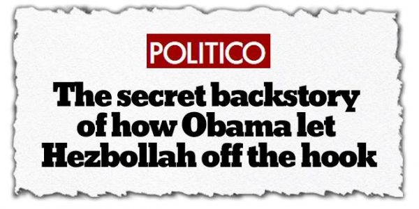 Politico Bombshell Nobody Will Read: Obama Let Hezbollah Run Cocaine Into the U.S.